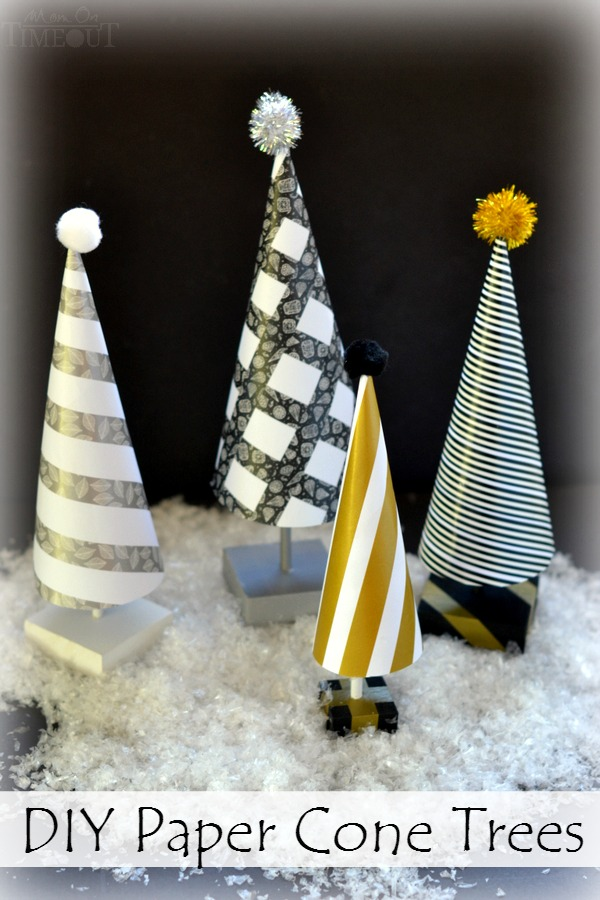 Easy DIY Paper Cone Trees Mom On Timeout