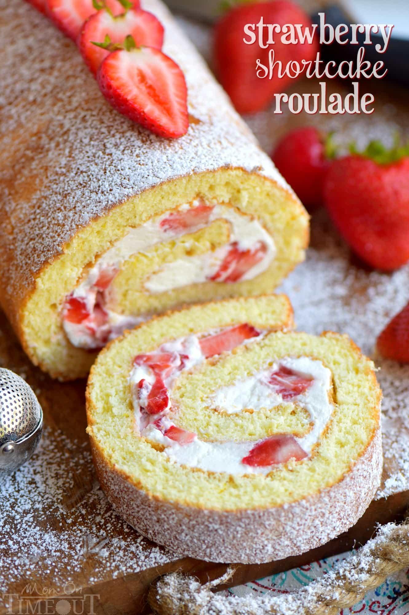Strawberry Shortcake Roulade