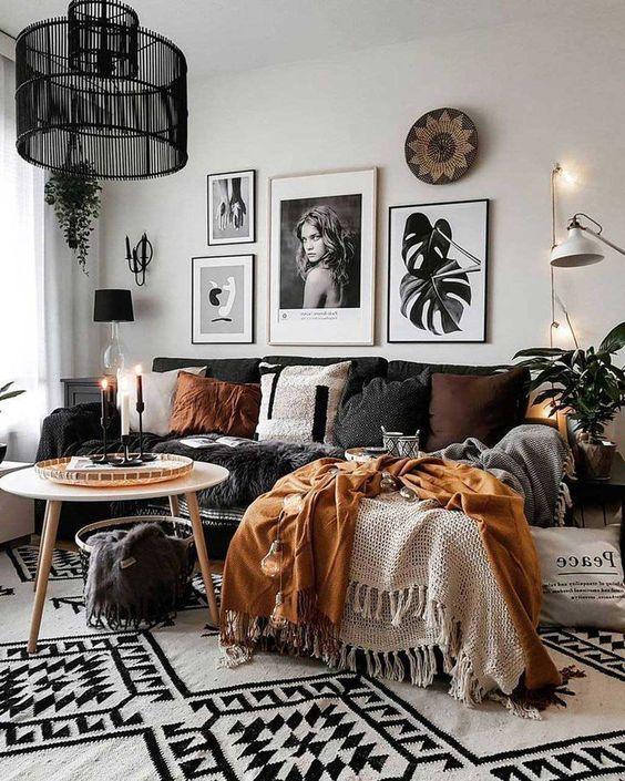 25+ Boho Living Room Decor Ideas on a Budget | momooze.com on Boho Bedroom Ideas On A Budget  id=87401