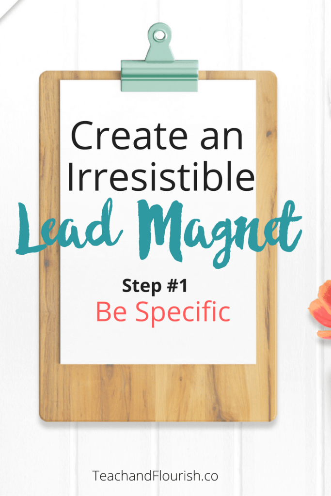 3 Step Checklist to create an irresistible lead magnet and grow your email list.