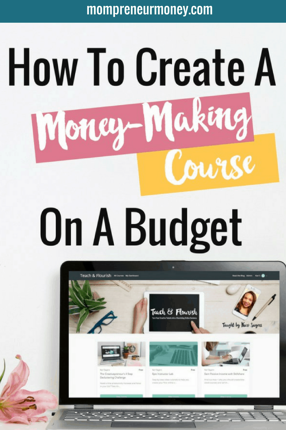 Are you ready to package what you know into a course, but you don't want to spend hundreds of dollars on software and equipment? Here's how I created my first ecourse for less than $50. Click through to the full blog post.