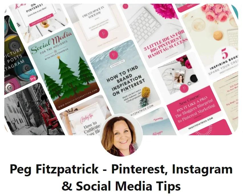 Peg Fitzpatrick Pinterest Expert