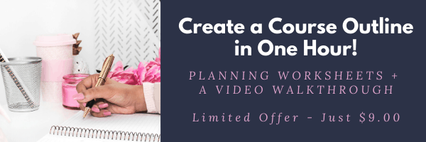 Create an online course outline
