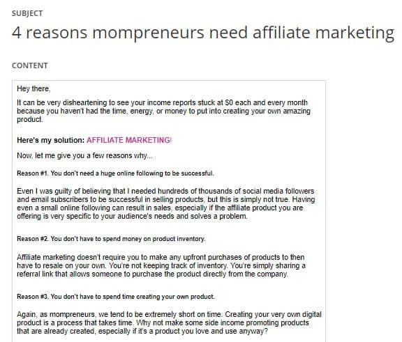 affiliate marketing training ads snapshot