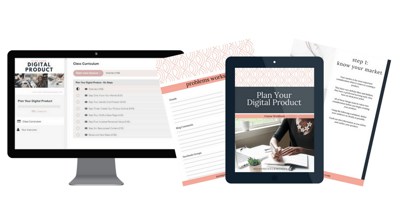 Plan Your Digital Product Video Lessons + Workkbook