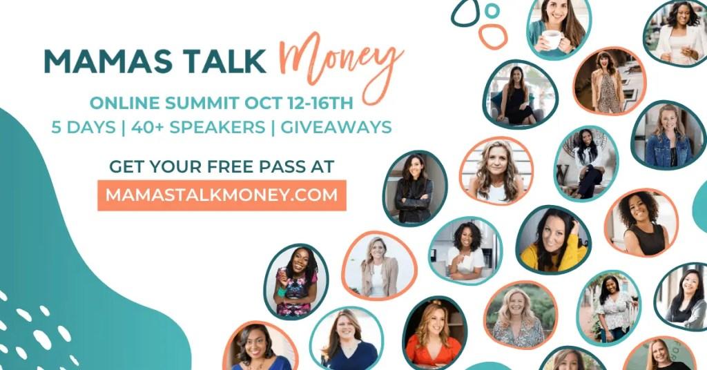 Mamas Talk Money Virtual Summit Social Media Graphic