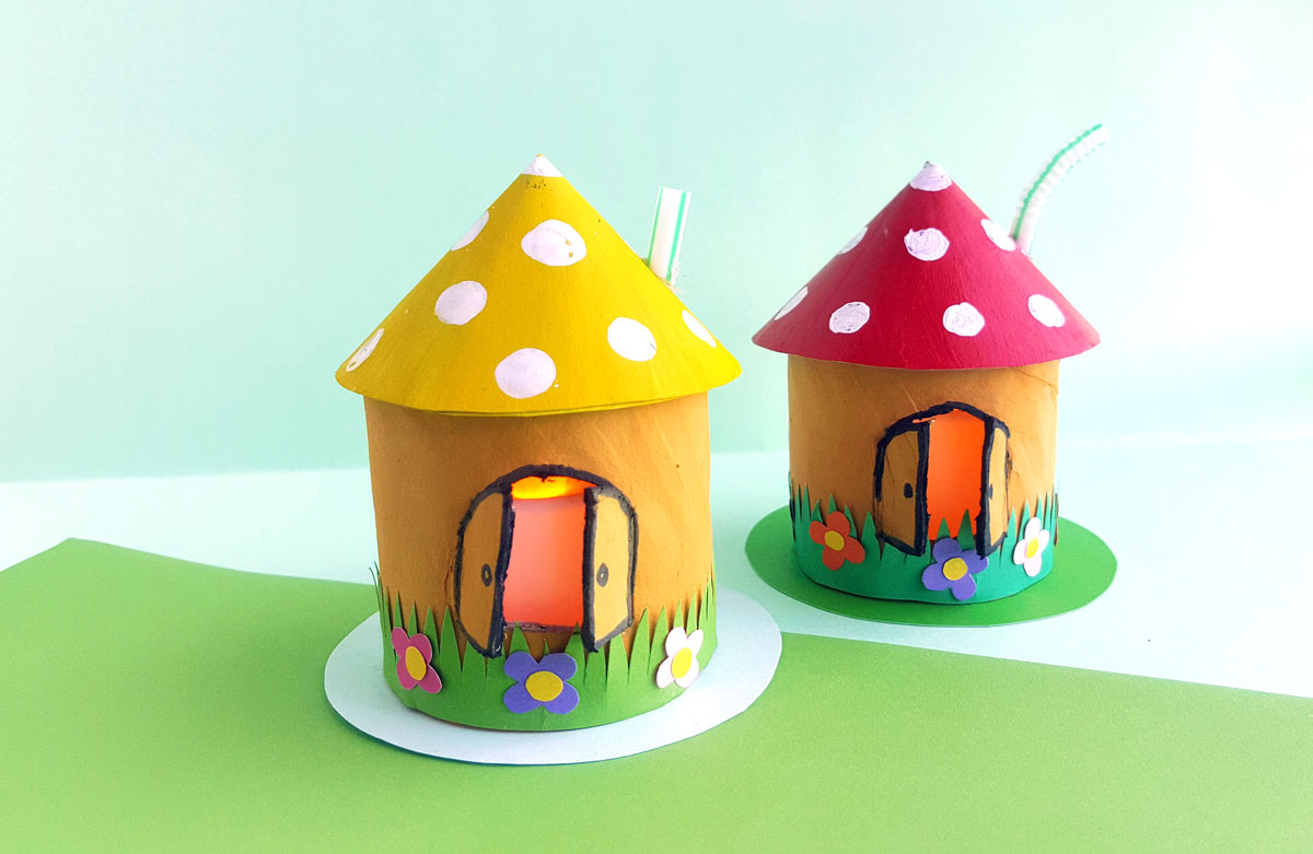 Follow easy craft tutorials, find free printables and coloring pages, and get advice on basic crafting techniques to make fun kids' crafts with the family. Toadstool House Lantern Easy Paper Craft For Kids Moms And Crafters