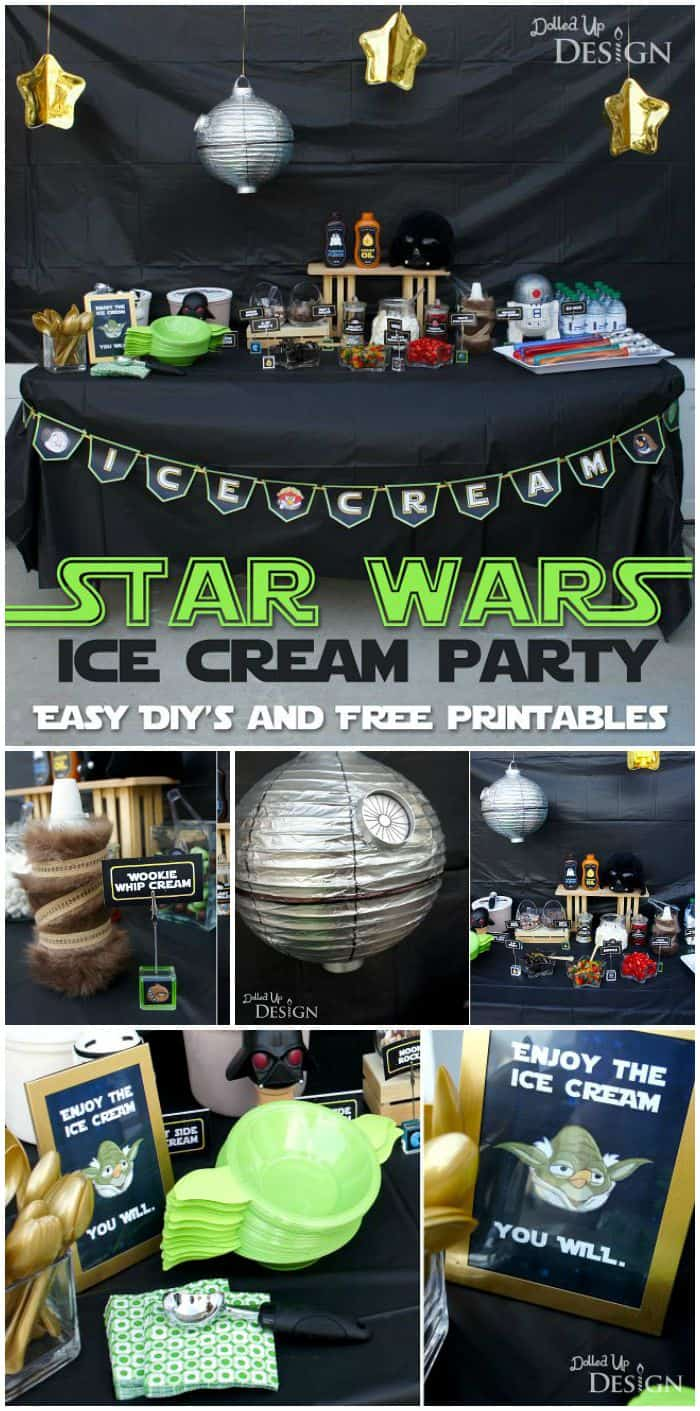 Star Wars Ice Cream Party With FREE Printables