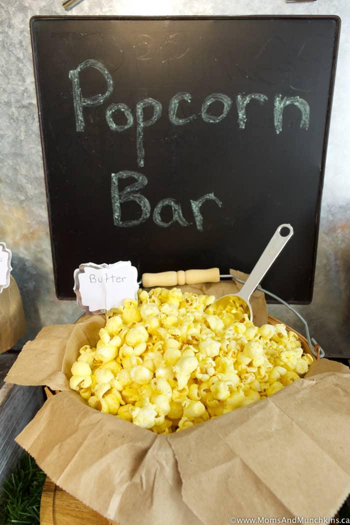 Popcorn Bar Ideas For A Buffet Moms Amp Munchkins