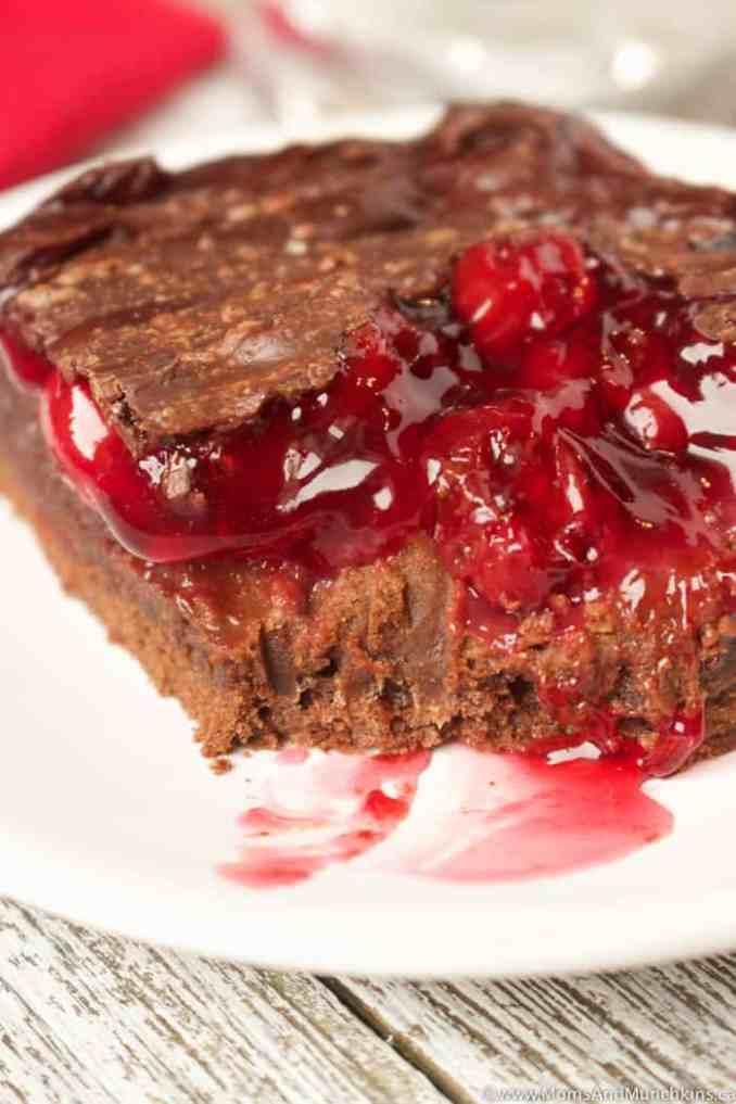 Chocolate Cherry Brownies Recipe - Moms & Munchkins