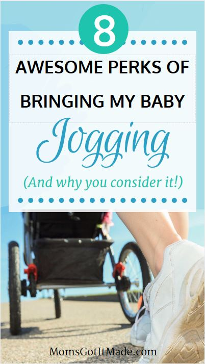 My top eight reasons for embracing the jogging stroller and bringing my baby with me when I run. #RunningMom #Baby #MomLife #FamilyHealth