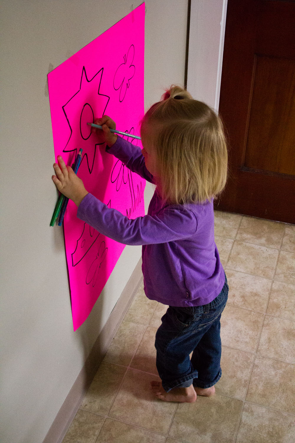 General Conference Activities Vertical Surface Drawing