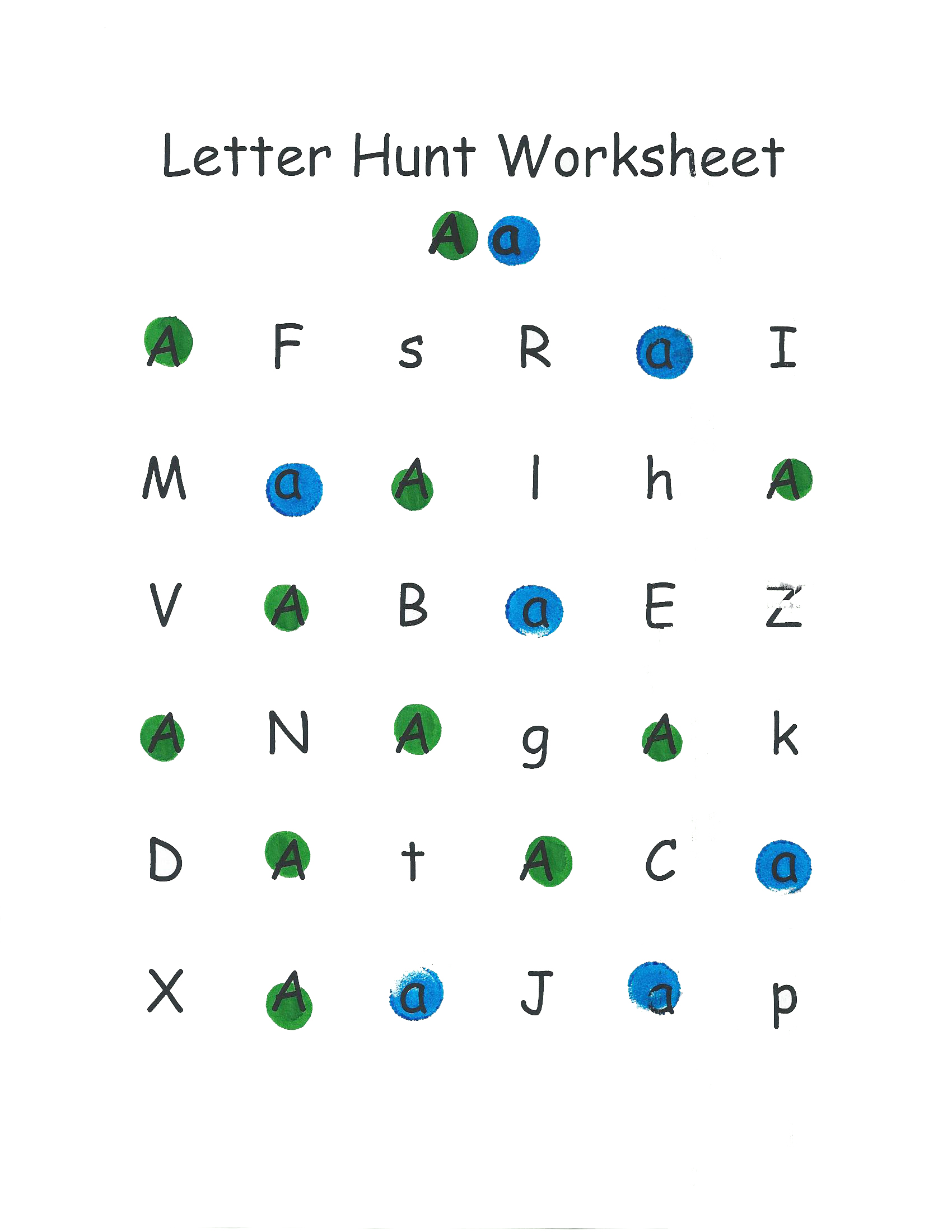 Mom Alphabet Worksheet