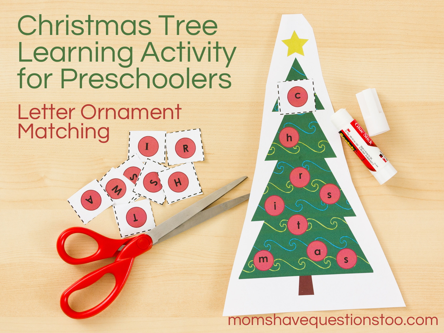Christmas Tree Activity For Toddlers And Preschoolers