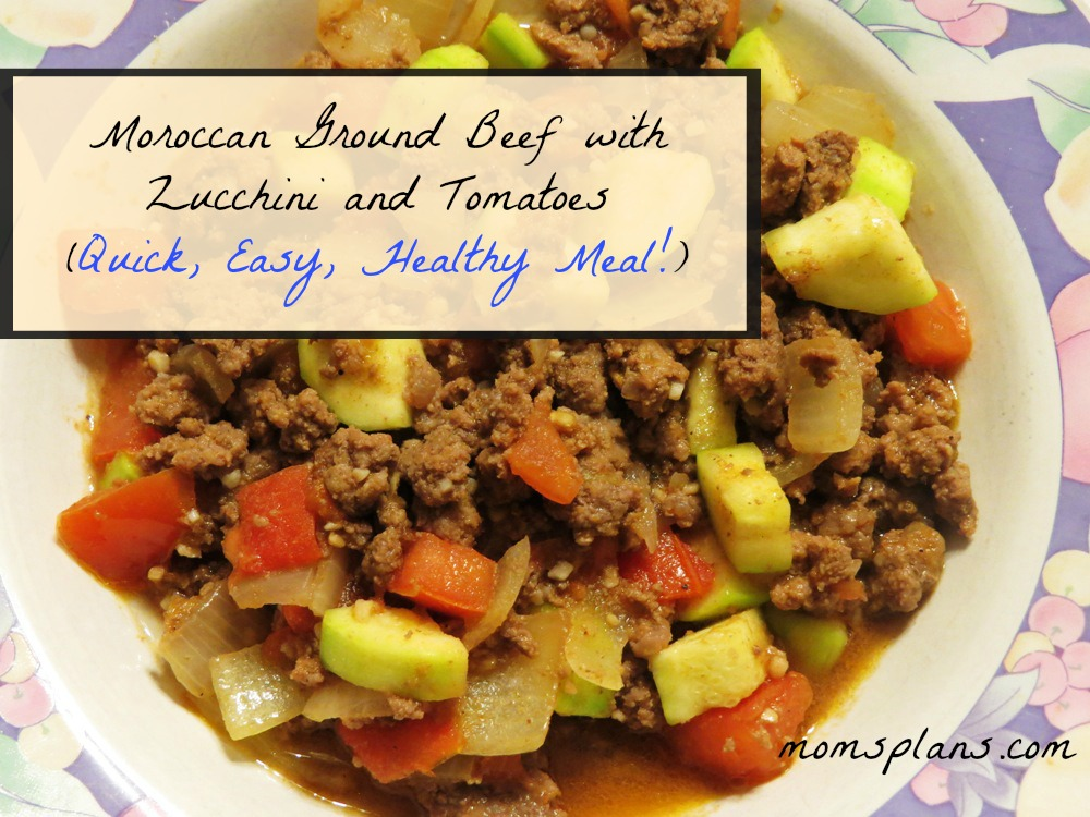 Moroccan Ground Beef with Zucchini and Tomatoes