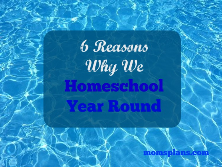 6 Reasons Why We Homeschool Year Round