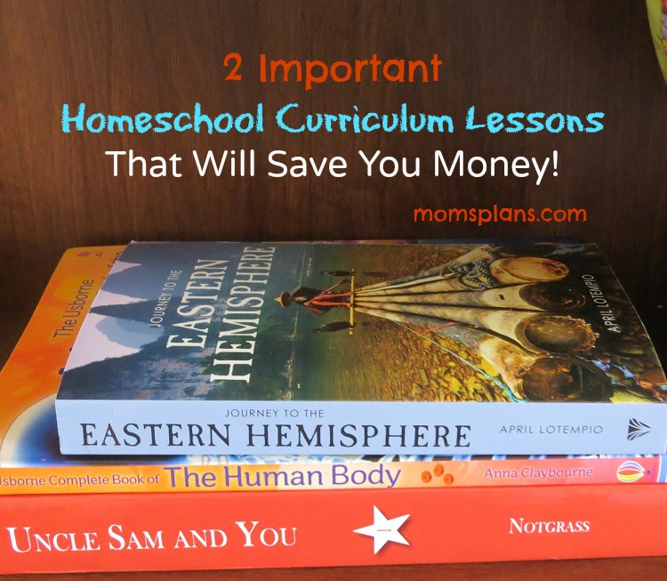 Homeschool Curriculum Lessons to Save Money