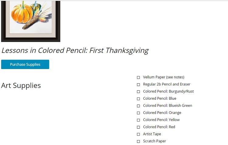 Creating a Masterpiece Supply List