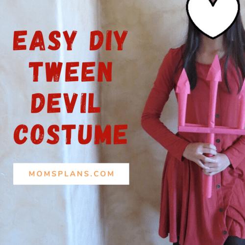 Easy DIY Tween Devil Costume