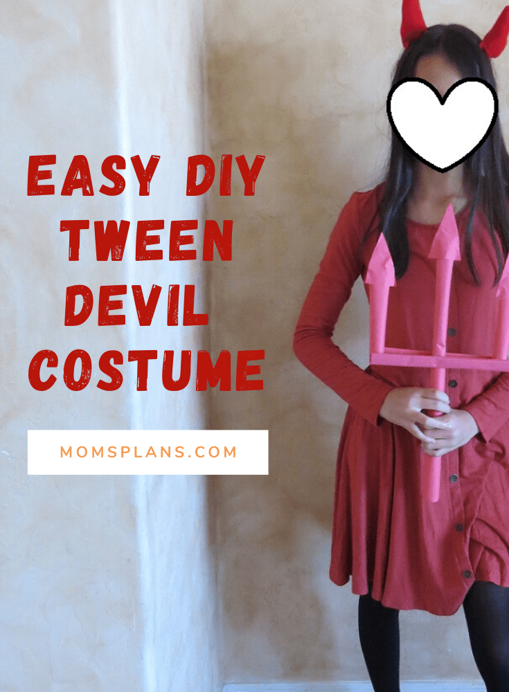 Easy DIY Tween Devil Costume