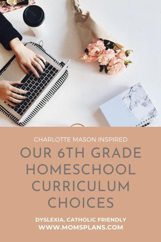 Our 6th Grade Homeschool Curriculum Choices