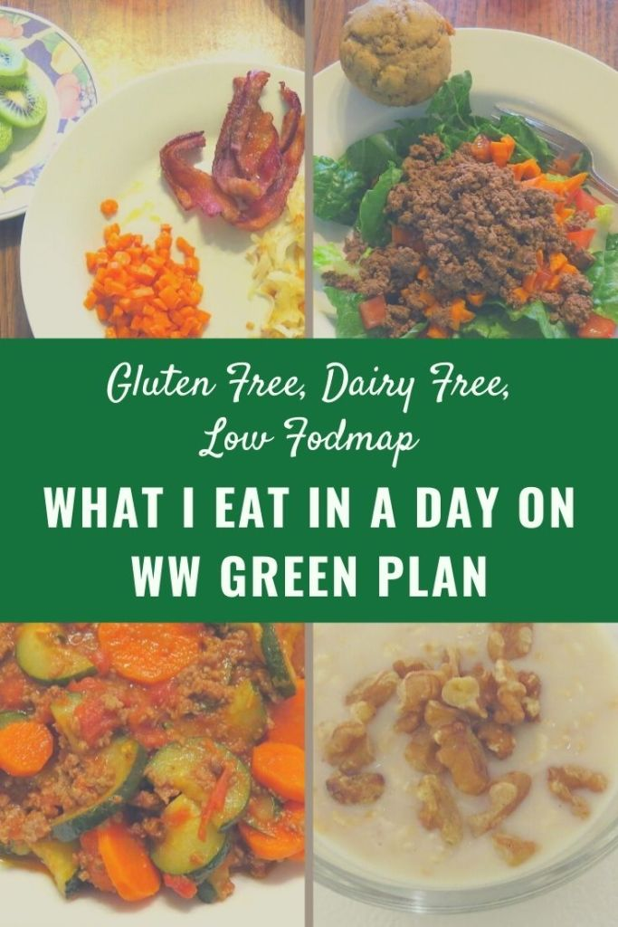 What I Eat in a Day on WW Green Plan Low Fodmap