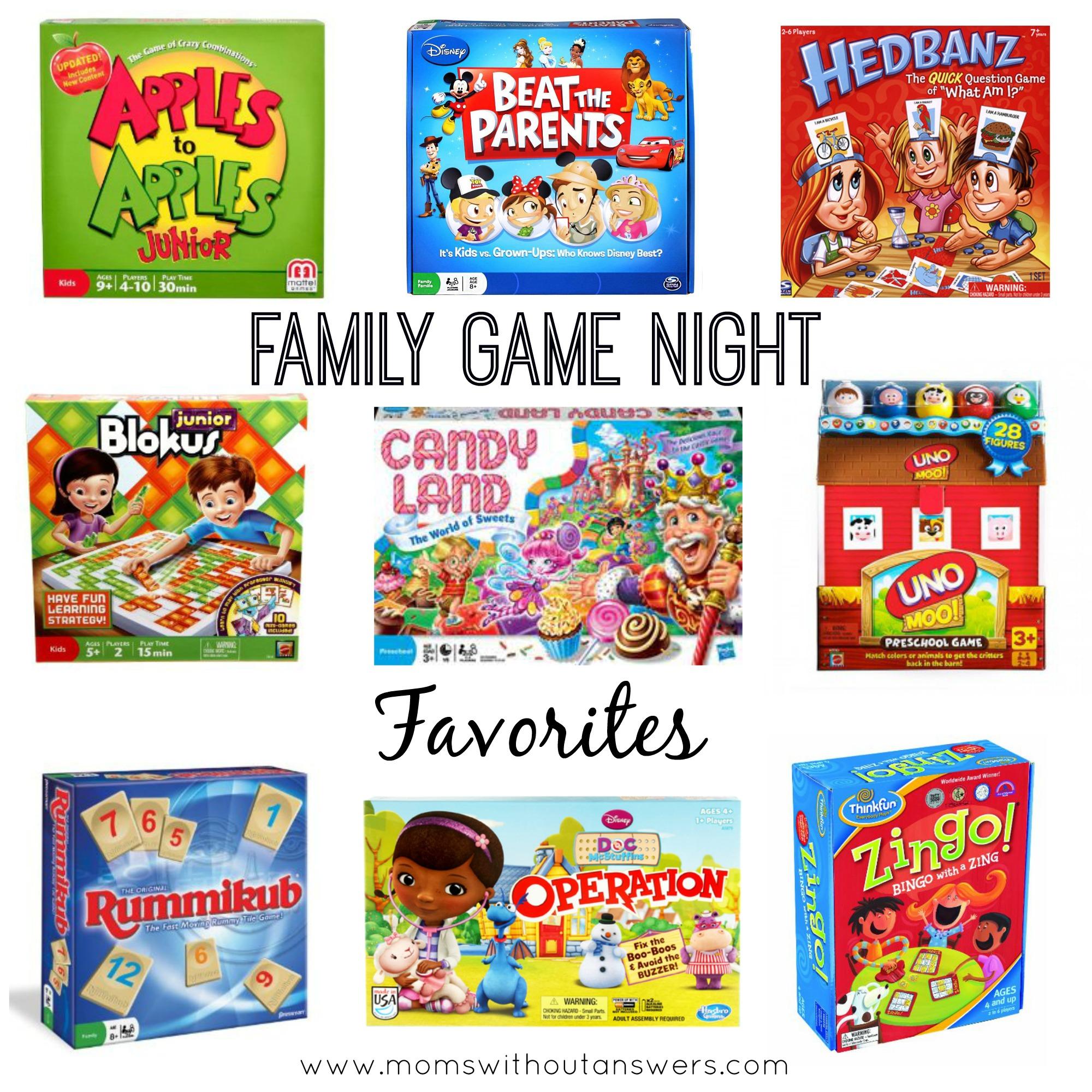 Favorite Family Board Games