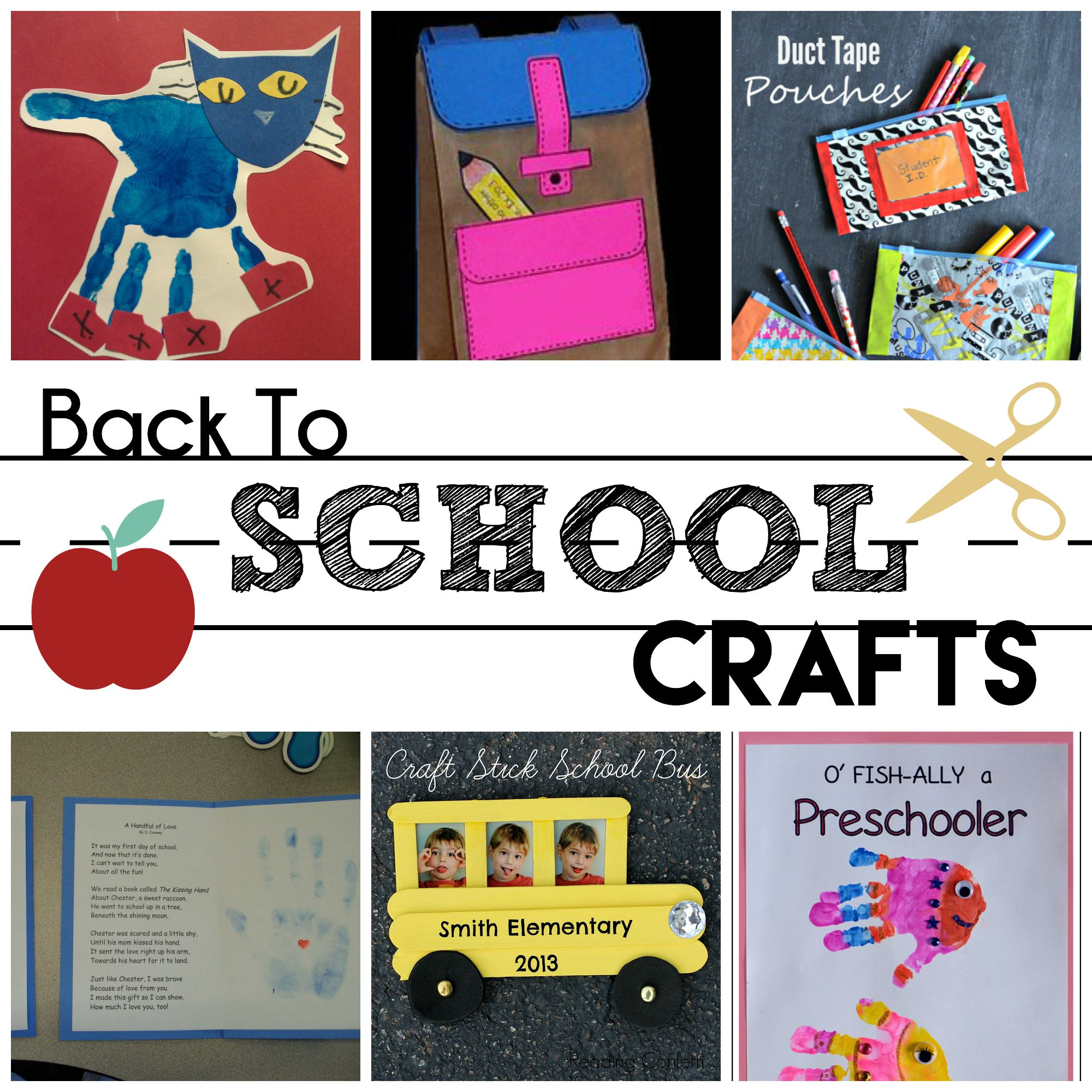 Back To School Preschool Crafts