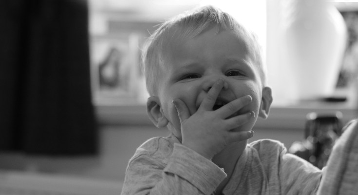 Baby, laughing