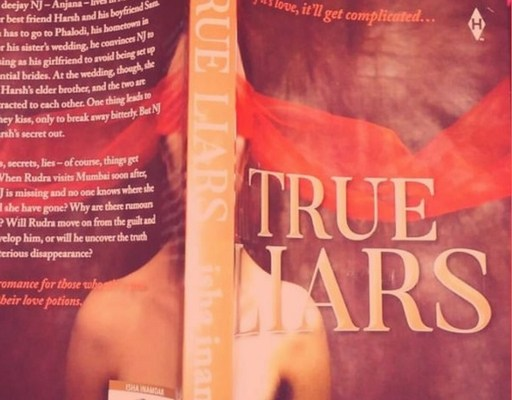 Book cover, True Liars