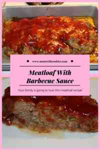 Meatloaf With Barbecue Sauce - www.momwithcookies.com #meatloaf #meatloafbarbecuesauce #recipe