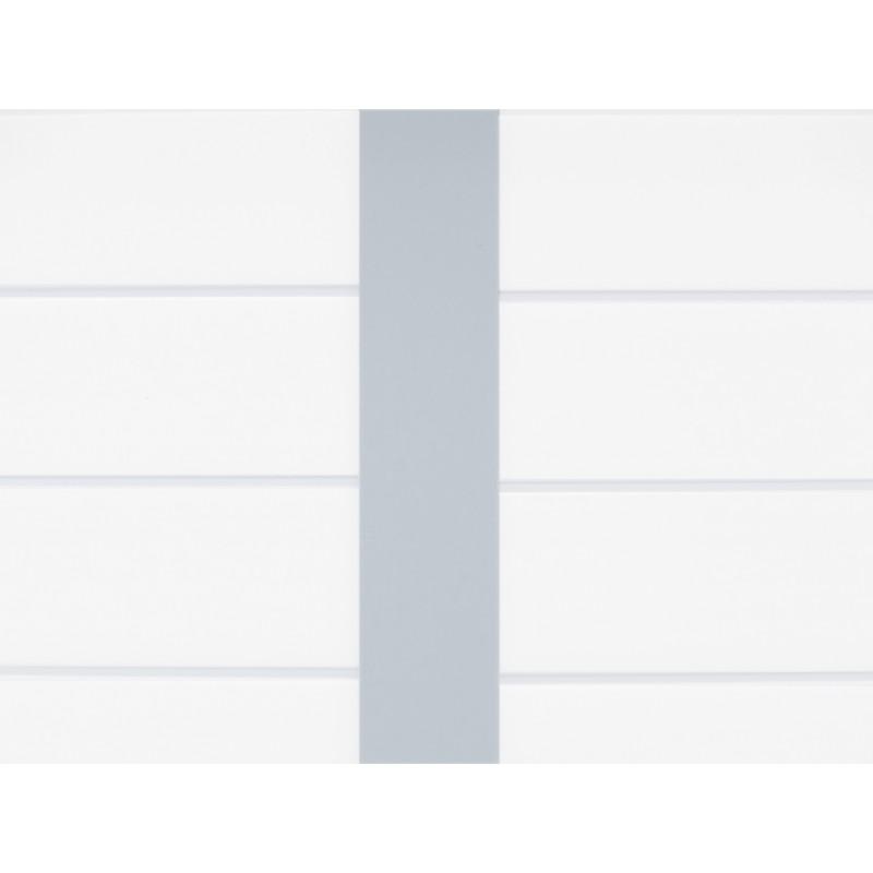Abri De Jardin En PVC 75m DECO Blanc Et Gris Vert Grosfillex