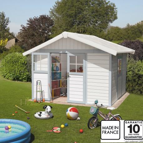 Abri De Jardin En PVC 75m DECO Blanc Et Gris Bleu Grosfillex