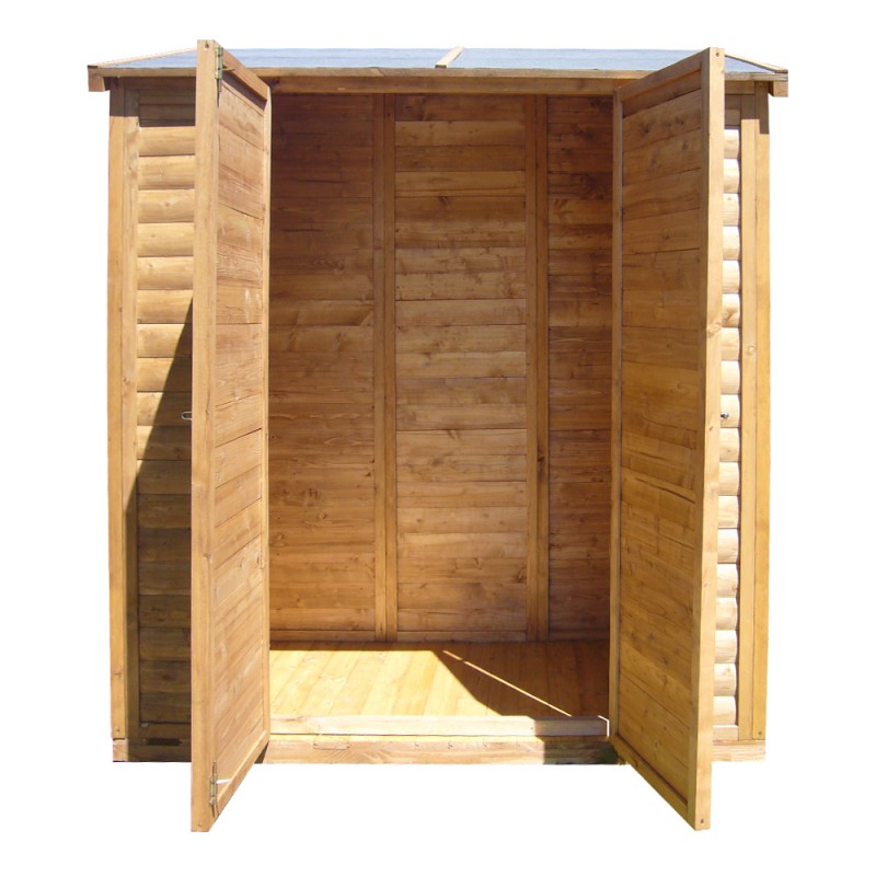 Remise Adosse De Jardin En Bois Trait Teint Marron Gardy Shelter