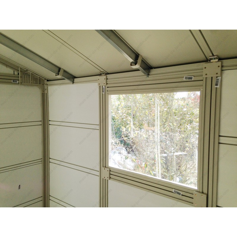 Abri De Jardin En PVC 112m DECO Moka Grosfillex Kit