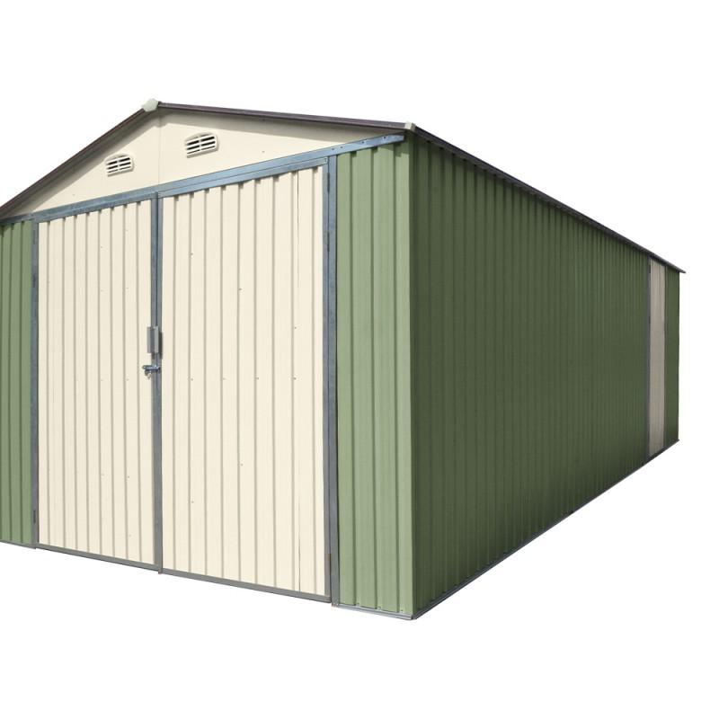 Garage Double En Metal Vert Ple 18m Kit Dancrage X METAL