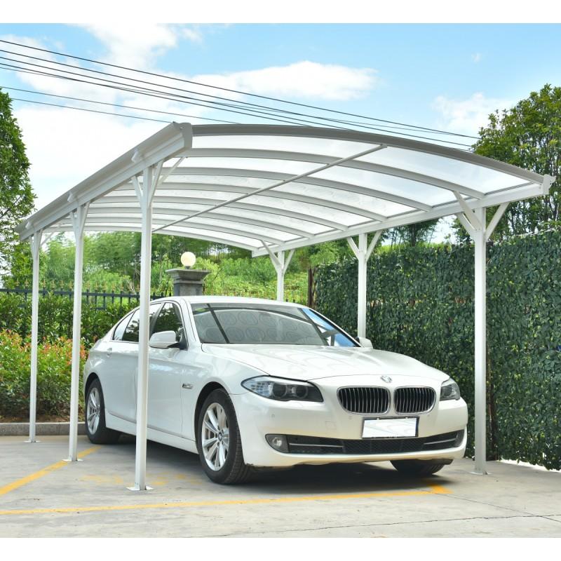 Carport Blanc En Alu Blanc 3x576m Et Plaques PC 6mm X METAL