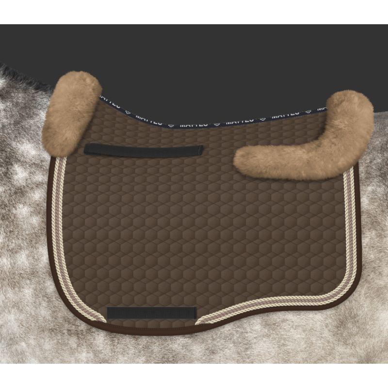 tapis de selle cheval eurofit avec amortisseur mouton personnalisable mattes
