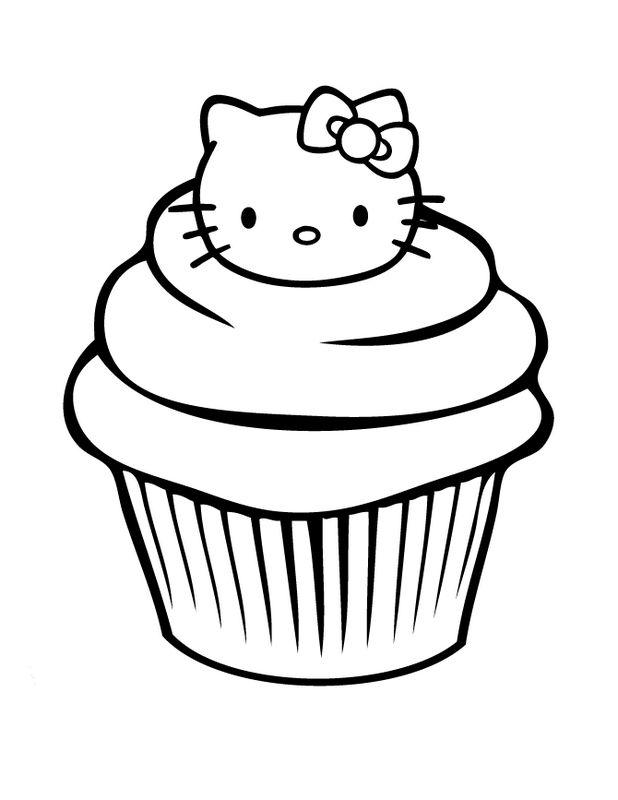 Coloriage De Hello Kitty Dessin Un Gateau Bien Amusant 224