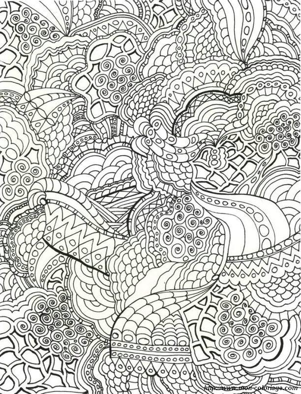 Coloriage De Mandala Dessin Il Faut Colorier De Nombreux