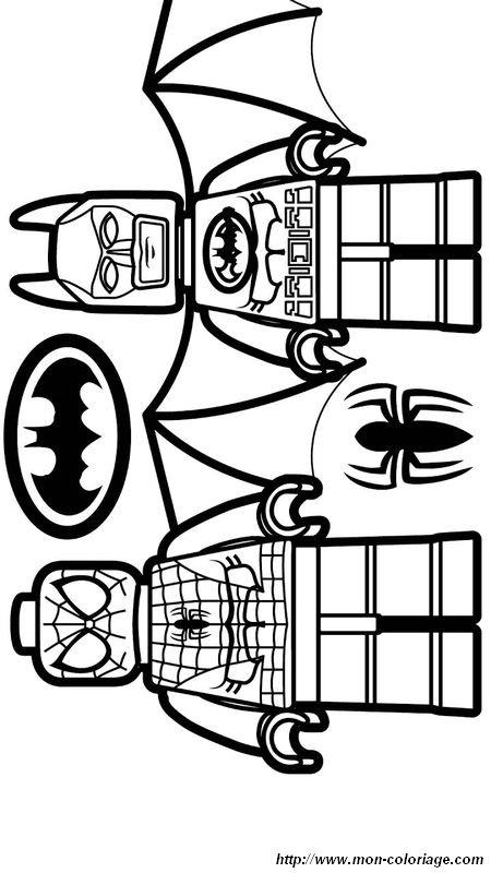 Coloriage De Spiderman Dessin Lego Spiderman Et Batman