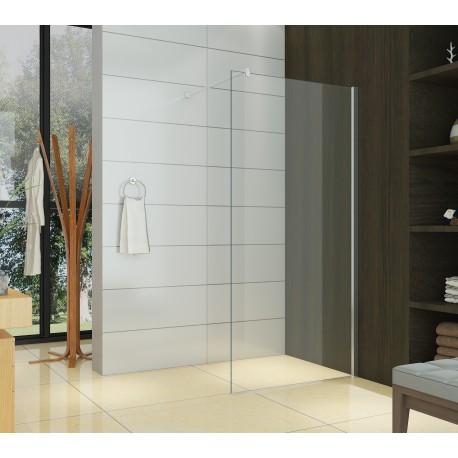 paroi de douche walk in transparente verre 8 mm 90 x 200 cm calixa doccelli