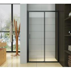 porte de douche coulissante profiles noirs 120 x 195 cm irwin doccelli