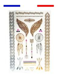 tatouage or argent egypte temporaire femme