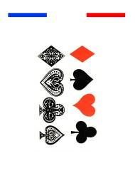 Tatouage Carte de Jeu Poker