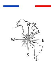 tatouage carte du monde boussole temporaire