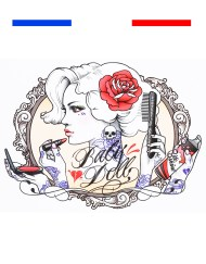 tatouage pin up francaise temporaire