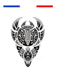 Tatouage Maori Bras Épaule - Noir