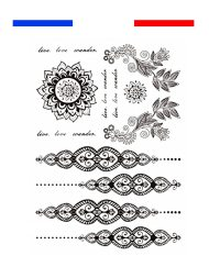 Tatouage Henné Mandala Oriental Temporaire