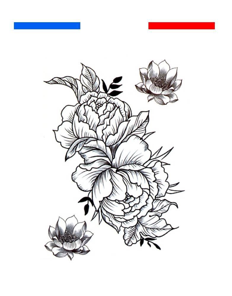 Fleurs Et Lotus Tatouage Temporaire Mon Petit Tatouage Temporaire